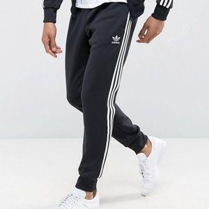 ADIDAS Superstar Cuffed Track Pants Black Small